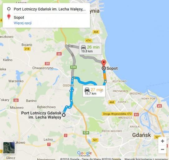 Lotnisko Gdańsk - Sopot