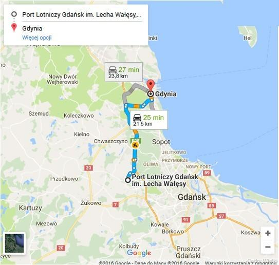 Lotnisko Gdańsk - Gdynia Centrum