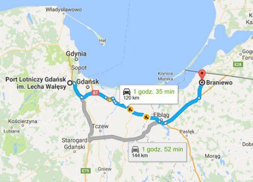 Lotnisko Gdańsk – Braniewo