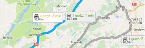 Lotnisko Gdańsk - Kościerzyna