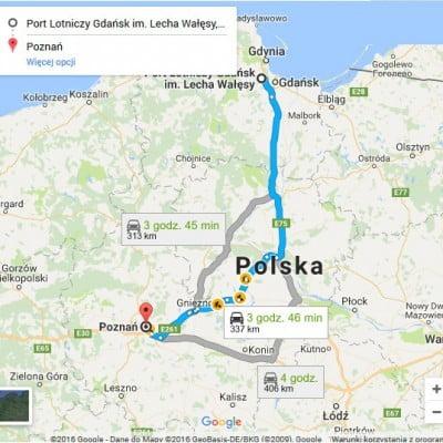 Lotnisko Gdańsk - Poznań