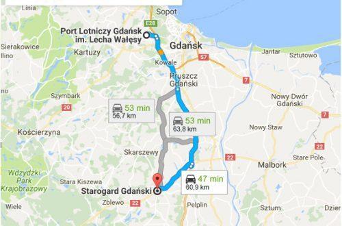 Lotnisko Gdańsk - Starogard Gdańsk