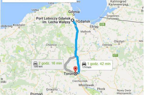 Lotnisko Gdańsk - Toruń